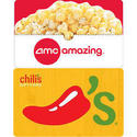$25 AMC Gift Card w/ $25 Restaurant Gift Card for $45 + free shipping