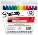 办公用品:Sharpie Fine Point Permanent Marker 12-Count