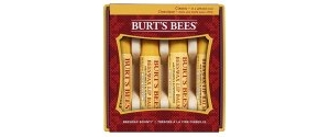 健康产品:Burt's Bees Beeswax Lip Balm Holiday 4-Pack