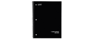 Staples Poly Cover Wirebound Notebook