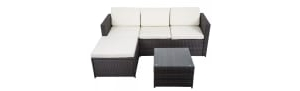 5-Piece Outdoor Patio Wicker Rattan Sofa Set
