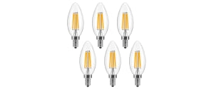 LuminWiz LED Candelabra Bulb 6-Pack