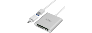 Weme Aluminum USB 3.0 3-in-1 Card Reader